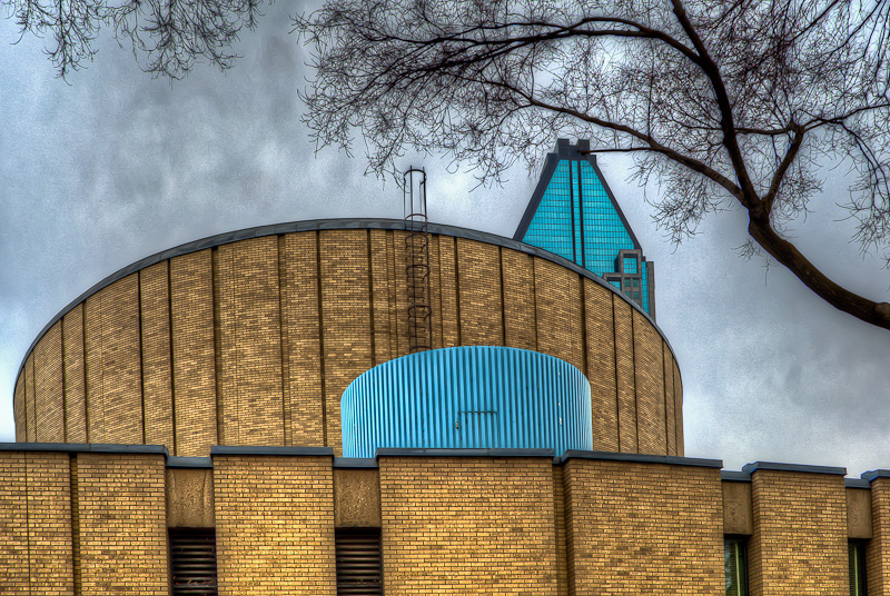 Rear view of the Dow Planetarium