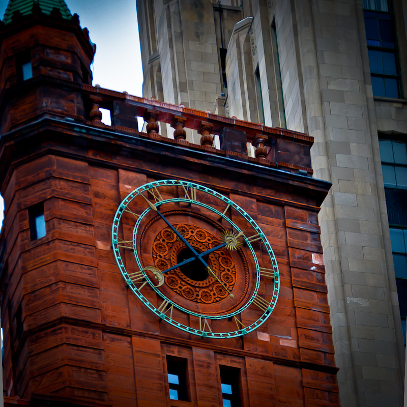New York Life building clock on Place d'Armes