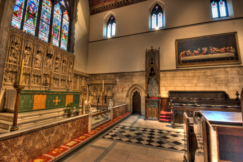 Inside the Christ Church Cathedral