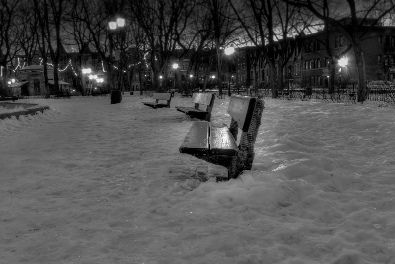 Lonesome benches - Square Saint-Louis