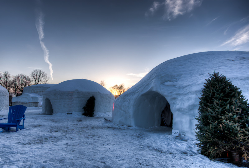 Igloo area of the Canada Snow Village