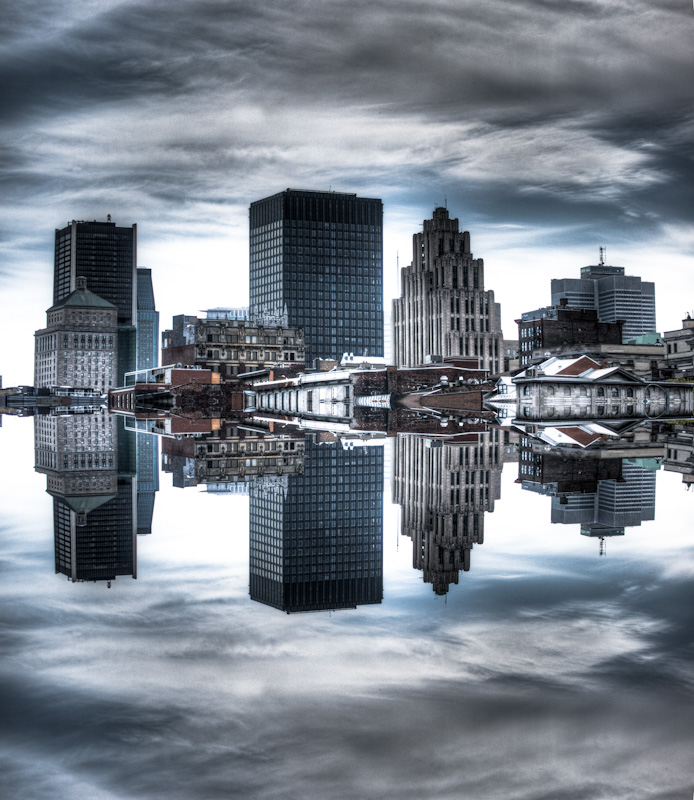 Floating Montreal skyline
