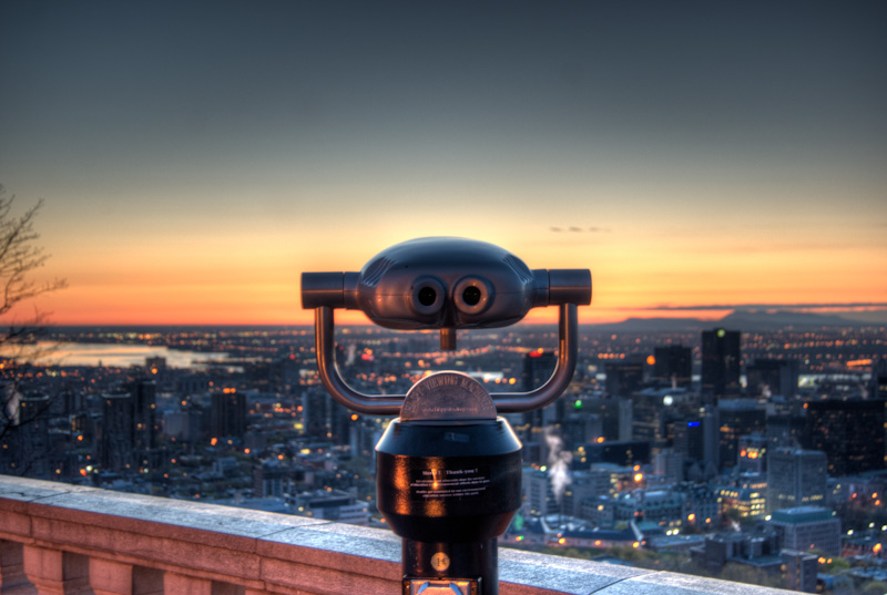 Hi Spy Viewing machine at sunrise