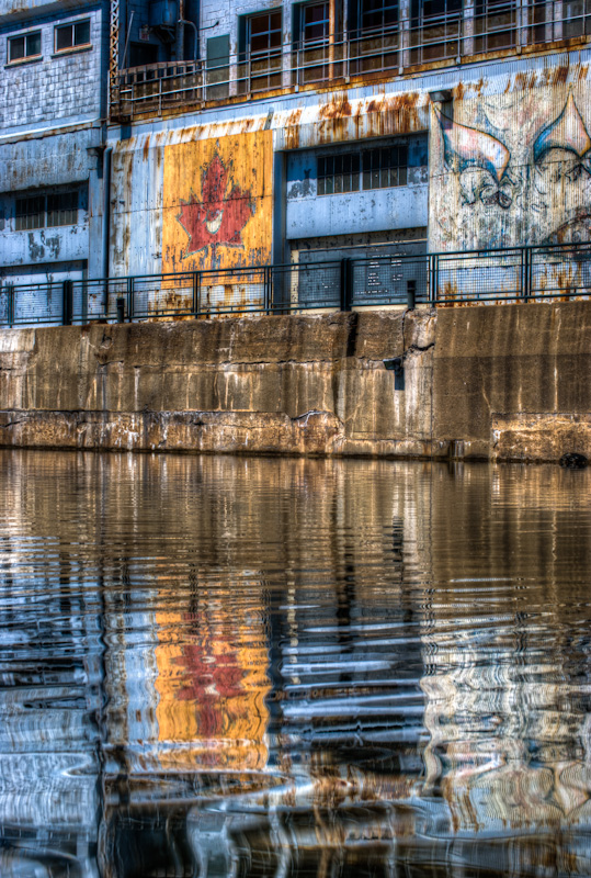 Basin Bonsecours reflections