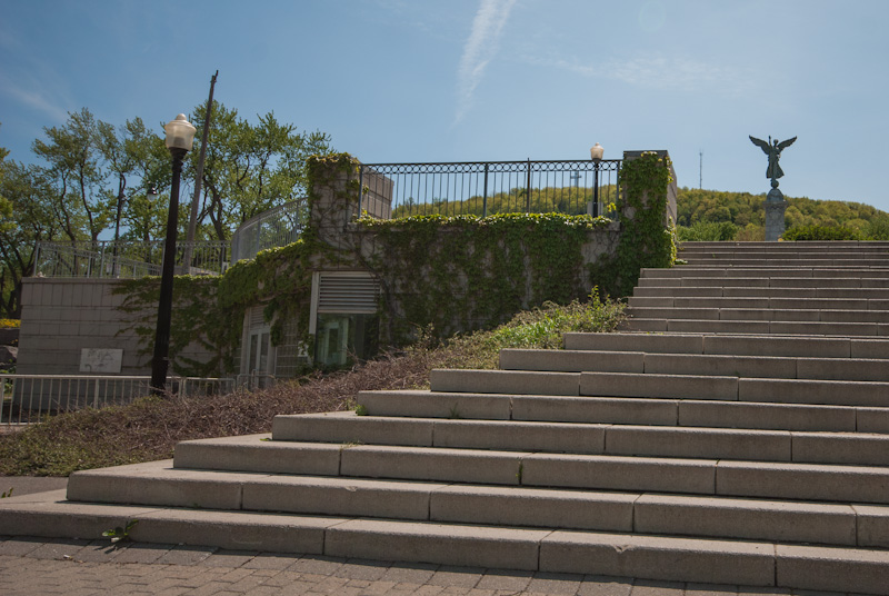 Steps leading to the Georges Étienne Cartier Monument
