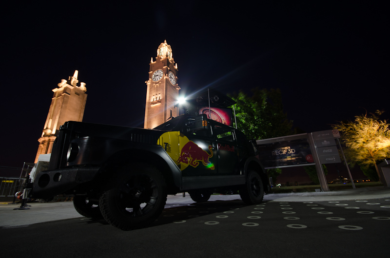 Red Bull promo vehicle at the clock tower
