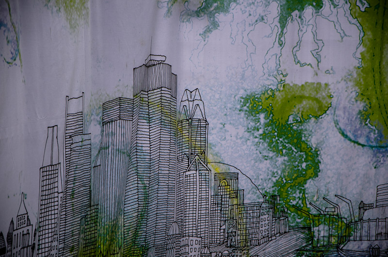 Fence covering artwork
