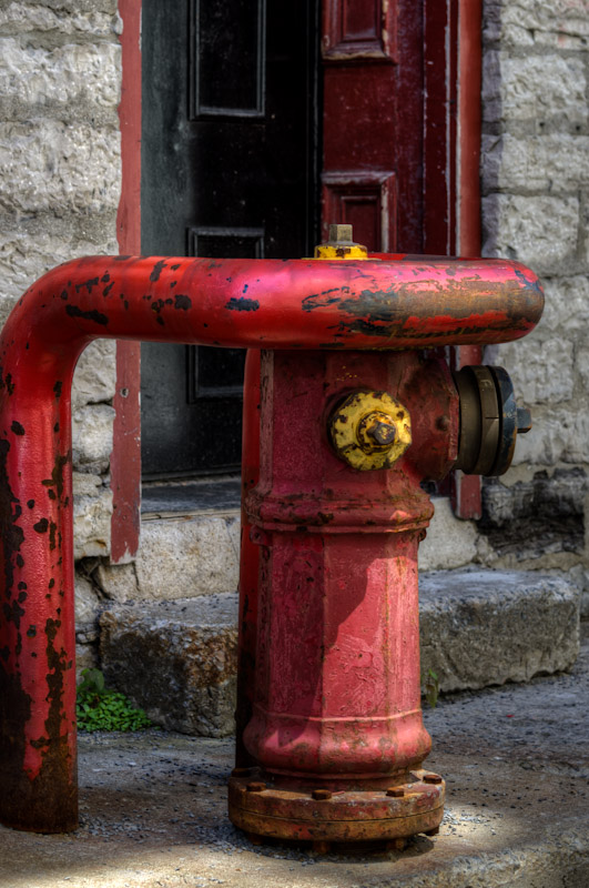 Protected fire hydrant