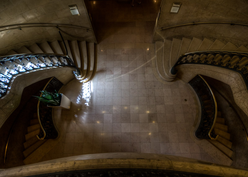 Staircase inside the Château Frontenac