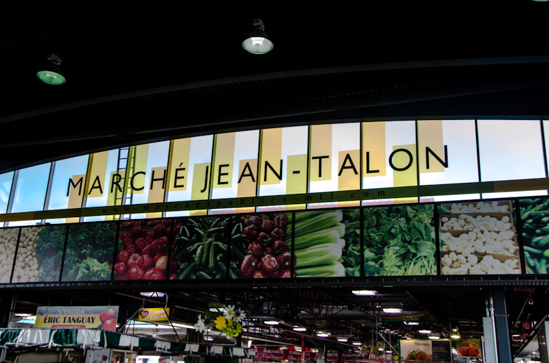 Marché Jean Talon sign