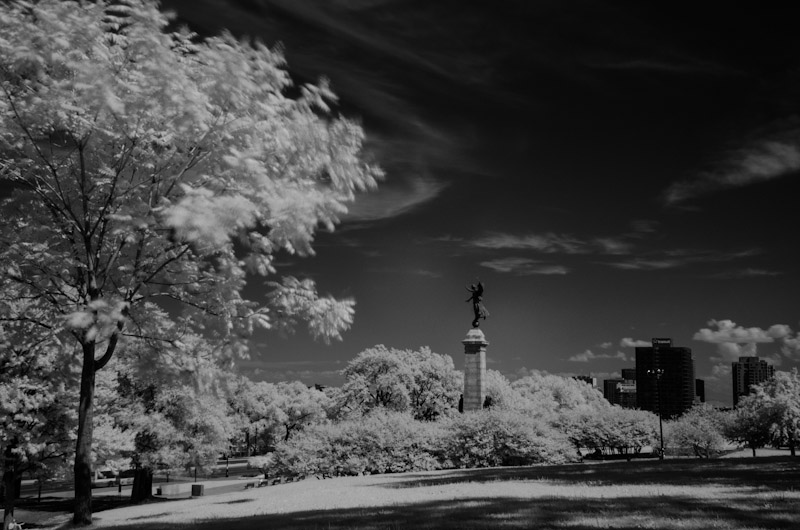 Infrared shot of the George-Étienne Cartier Monument