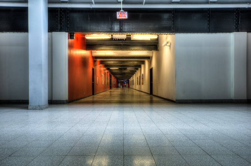 Bell Centre entrance from Windsor Station
