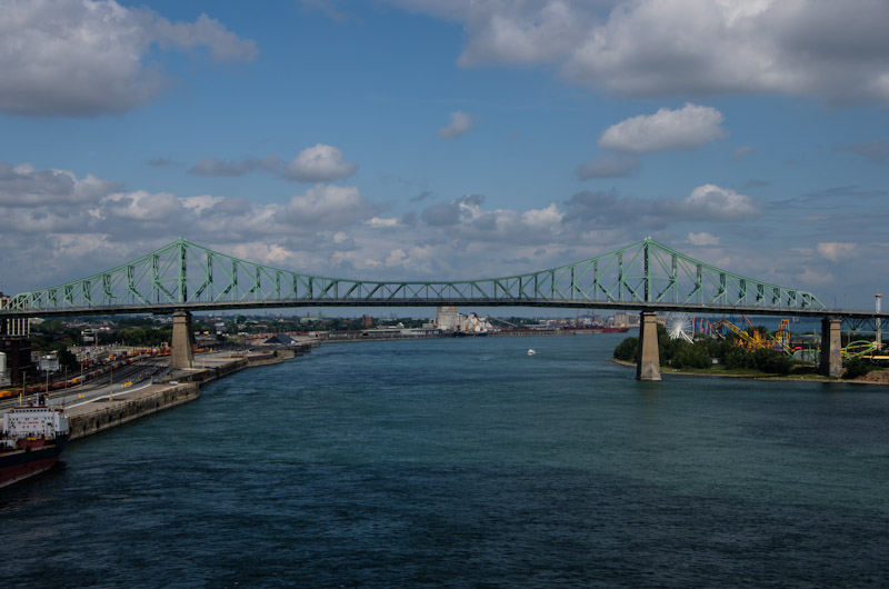 The Jacques Cartier bridge from The Clock Tower