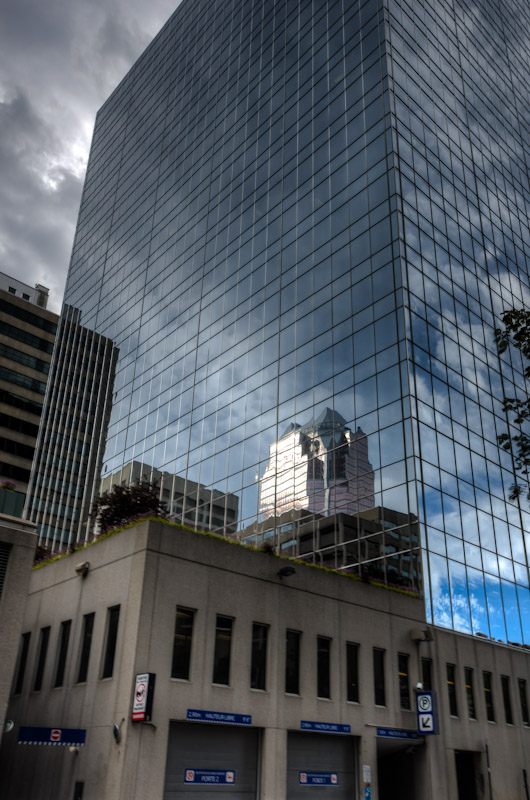 Office tower reflections