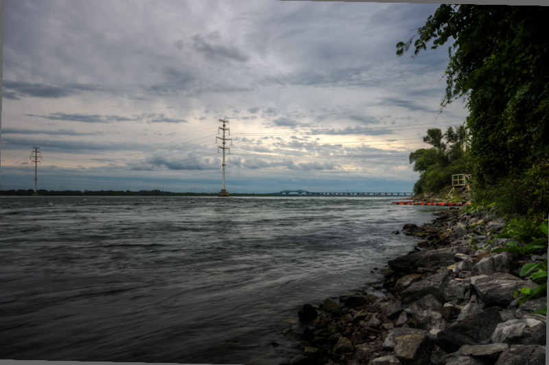 View toward Champlain Bridge