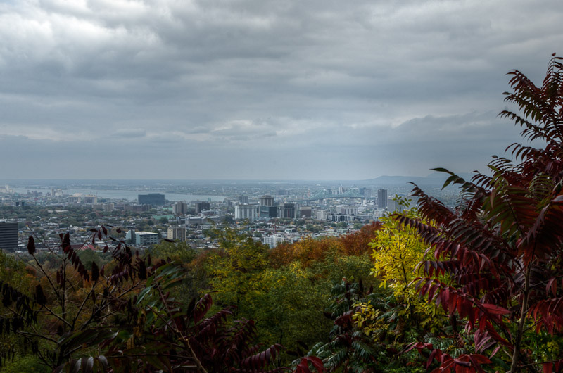 View toward South East Montreal