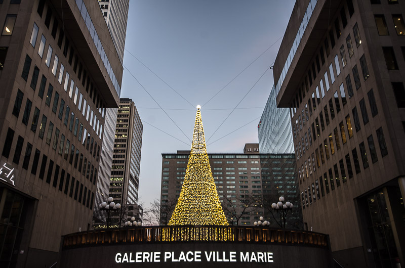 Christmas Tree at Place Ville Marie