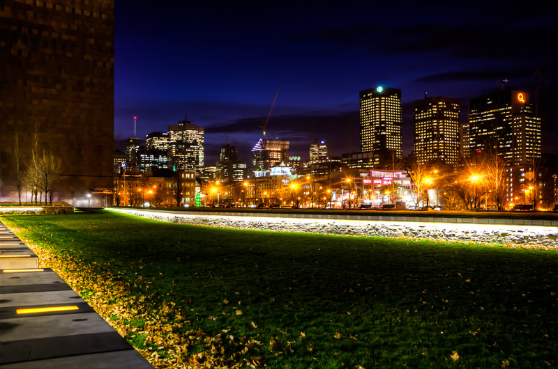 Montreal Skyline from Champ de Mars