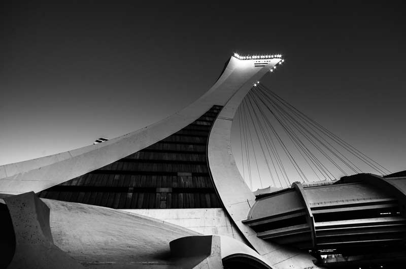 The Montreal Olympic Stadium inclined tower
