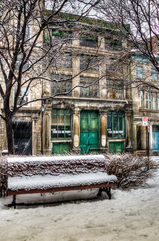Old building on Place d'Youville