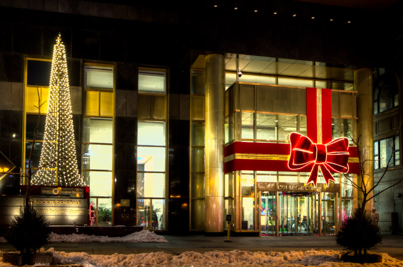 Giant Bow at 1501 McGill College ave