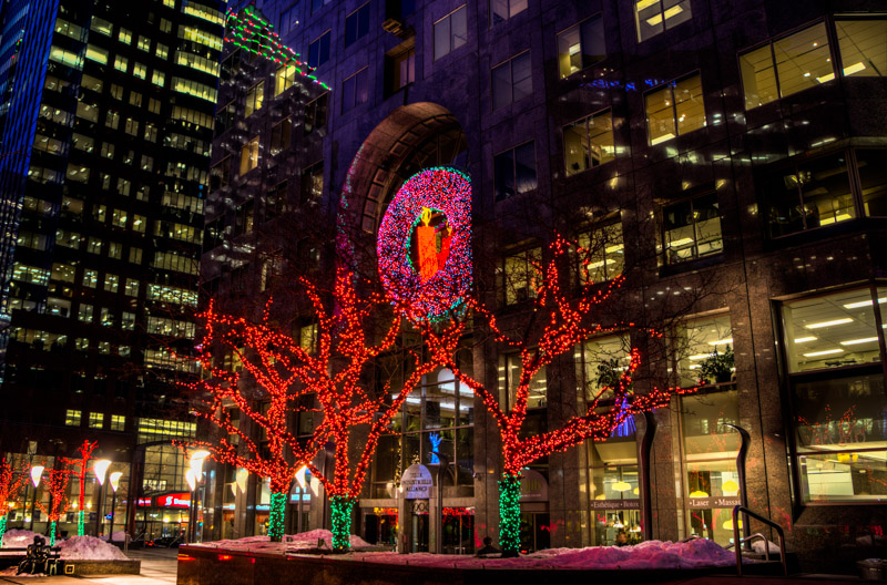christmas decorations on mcgill college avenue - College Christmas Decorations