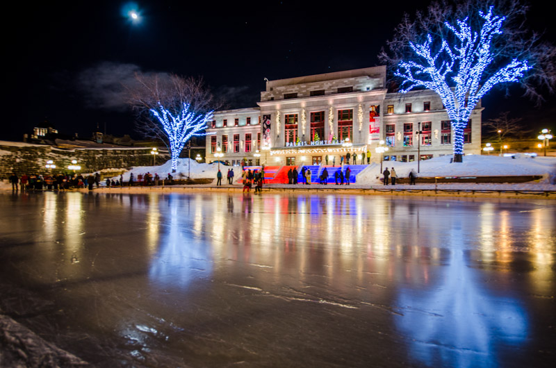 Ice rink in Carré d'Youville, Quebec City