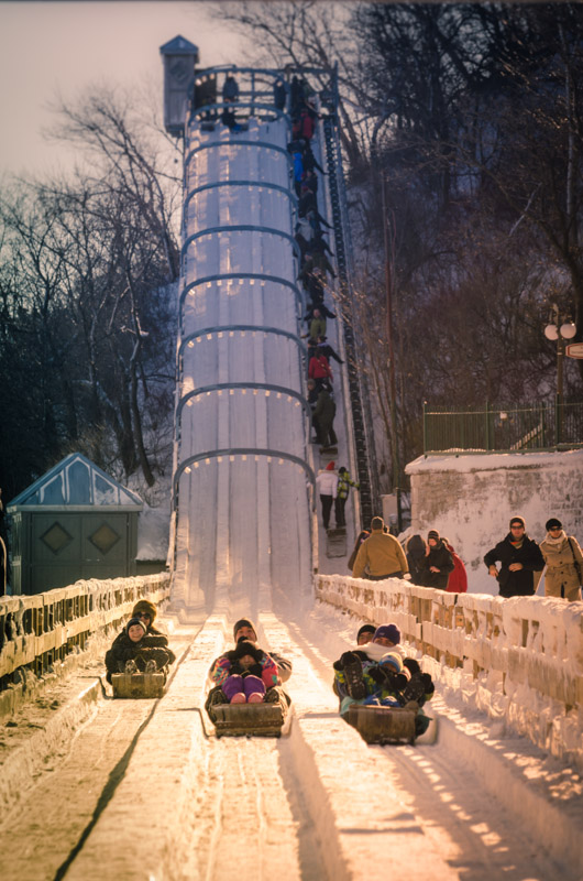 Toboggan track on la Terrasse Dufferin