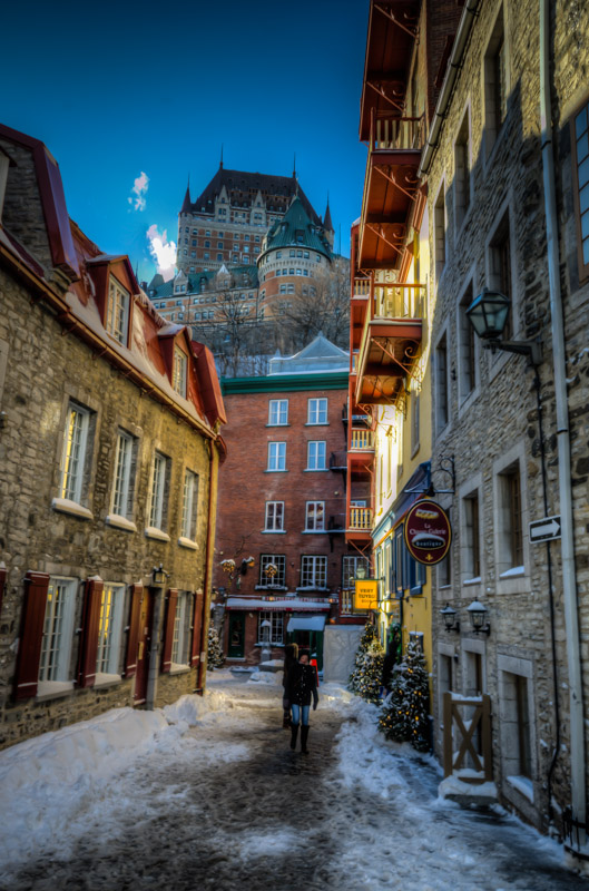 Chateau Frontenac from below