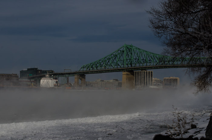 Steam Fog beneath the Jacques Cartier Bridge