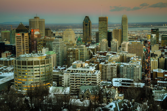 Downtown Montreal from Mount Royal
