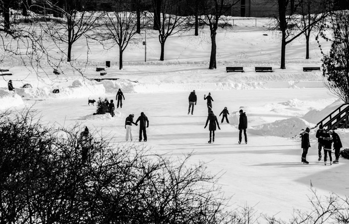 Ice Skating on Parc La Fontaine