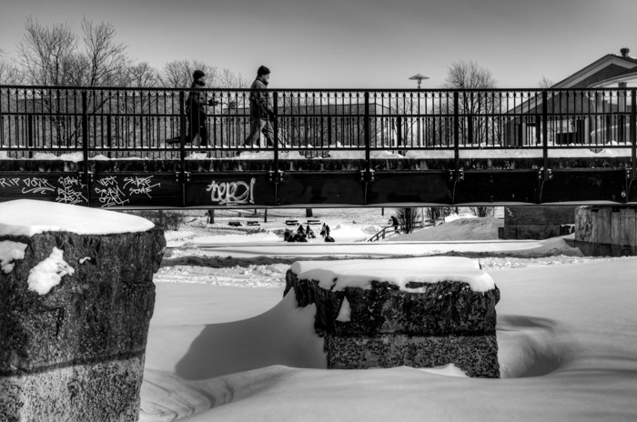 Winter time at Parc La Fontaine