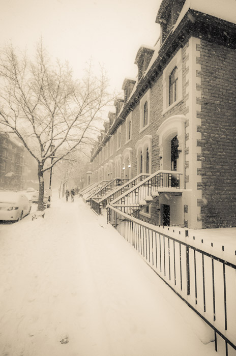 McGill Ghetto in the snow