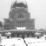 Saint-Josephs Oratory in the snow