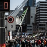 Earth Day march at Quarter des Spectacles