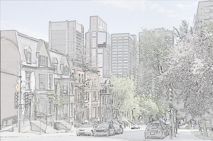 Drawing Lines In Photo Elements : Montreal in picturesline drawing archives page of