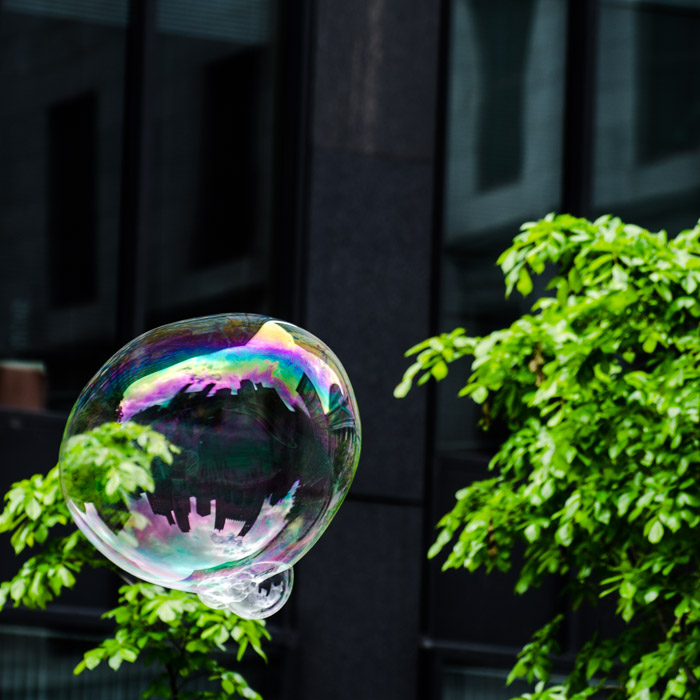 Place d'Armes in a bubble
