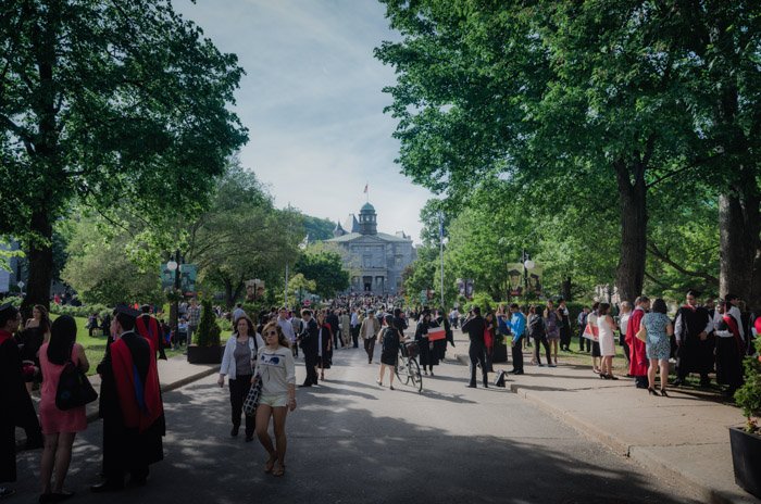 Graduation at McGill University Campus