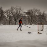 Ice Hockey in Parc Jeanne-Mance