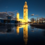 Clock Tower reflection