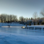 Ice Skating at Lac aux Castors
