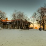 Mount Royal chalet at dusk