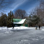 Parc La Fontaine in winter