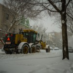 Snow clearing on Le Plateau