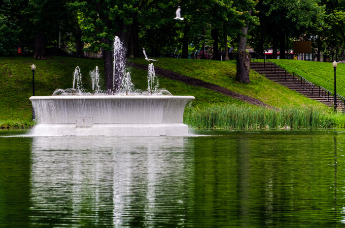 Parc Lafontaine fountain