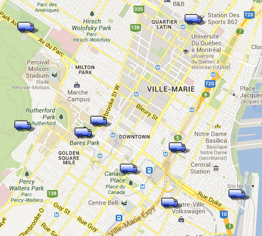 Montreal Food truck locations