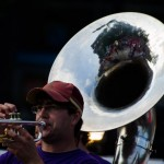 Reflections in a sousaphone