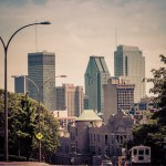 Downtown Montreal from McDougall road