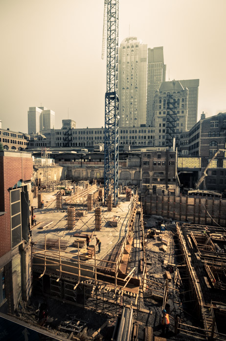 Construction site of the Deloitte Tower